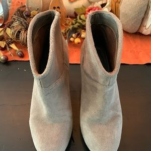 Also taupe wedge boots